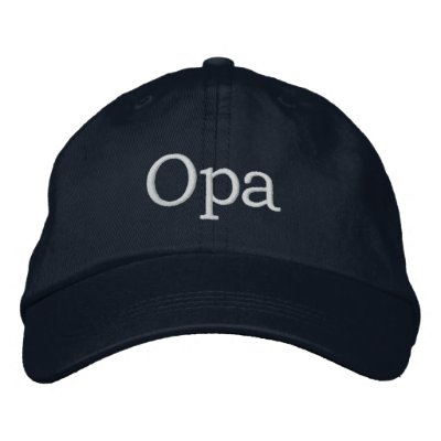 Opa Embroidered Hat Embroidered Baseball Cap