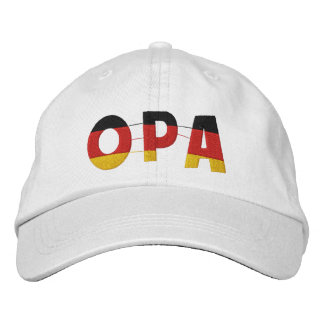 OPA German Grandfather Embroidered Cap