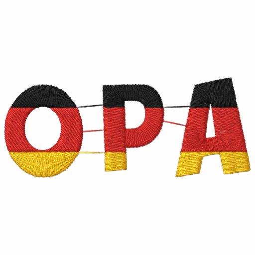 OPA German Grandfather Embroidered Polo Shirt Embroidered Shirt