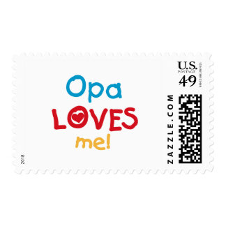 Opa Loves Me T-shirts and Gifts Postage