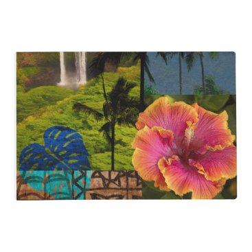 Opaeka'a Falls, Kauai Hawaiian Collage Reversible Placemat