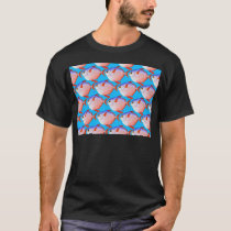 opah pattern in blue T-Shirt