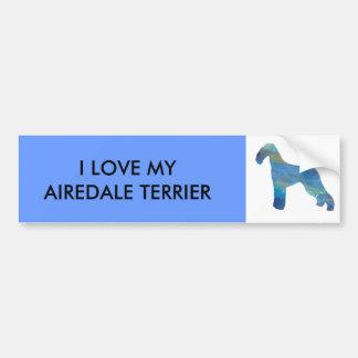 Opal Airedale Terrier Bumper Sticker