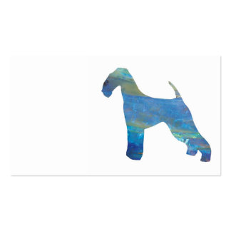 Opal Airedale Terrier Business Cards