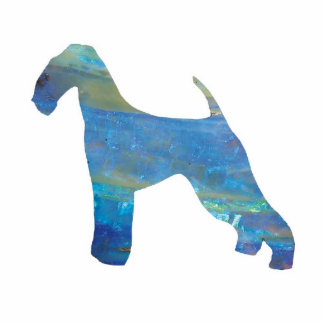 Opal Airedale Terrier Photo Sculpture