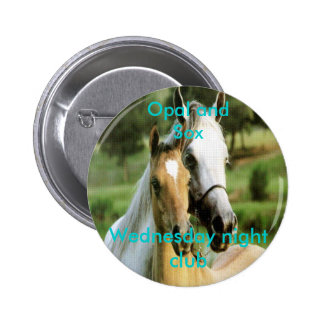 Opal and Sox, Wednesday night club Pinback Button