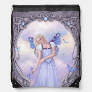 Opal Birthstone Fairy Drawstring Backpack