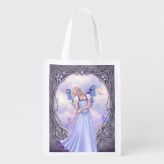 Opal Birthstone Fairy Reusable Grocery Bag Grocery Bags