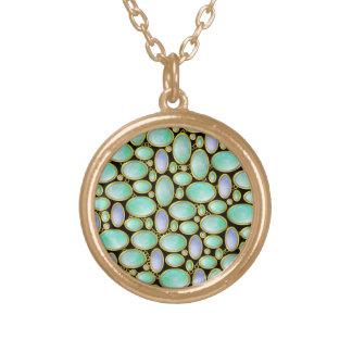 Opal Brooch Pendant Chain Pattern