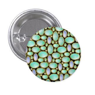 Opal Brooch Pendant Chain Pattern Pinback Buttons