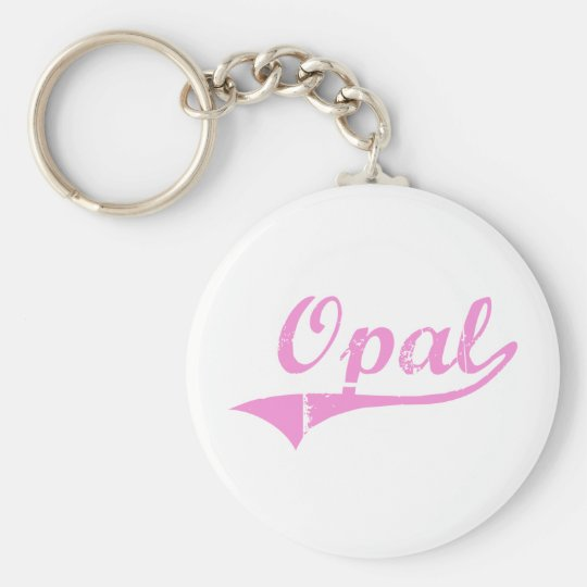Opal Classic Style Name Keychain