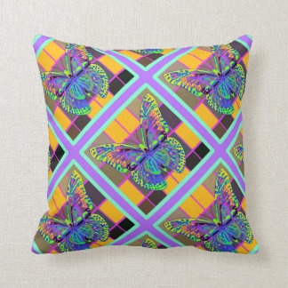 Opal Colored Butterfly Pattern Pillows by Sharles