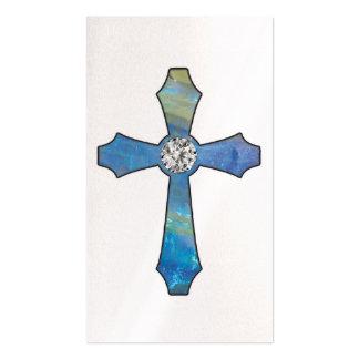 Opal & Diamond Jewel Cross Business Cards