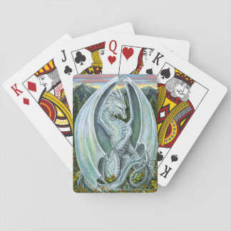 Opal Dragon October Birthstone Playing Cards