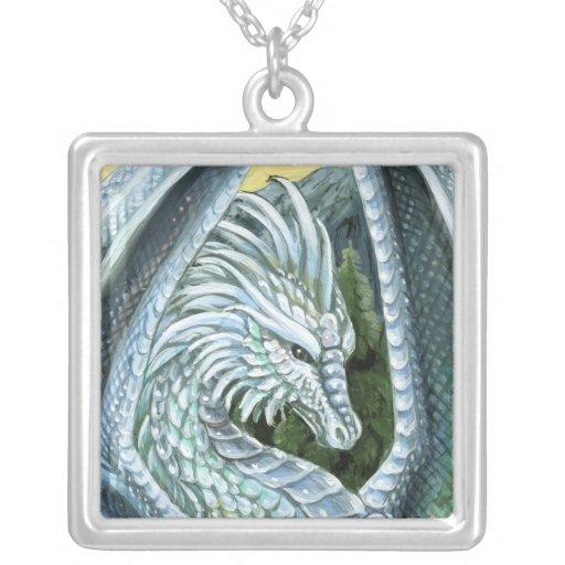 Opal Dragon Square Necklace