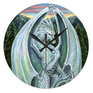 Opal Dragon Wall Clock