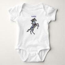 OPAL horse, NAME, Infant Creeper, White Baby Bodysuit