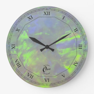 Opal - October Birthstone with Roman Numerals Wall Clocks