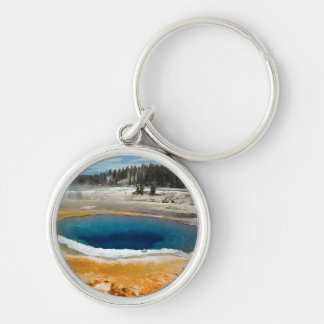 Opal Pool Silver-Colored Round Keychain