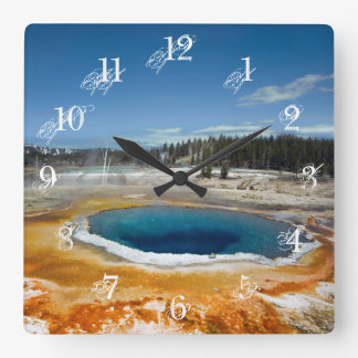 Opal Pool Square Wall Clock