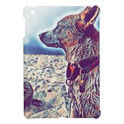 Case Savvy iPad Mini Glossy Finish Case with Australian Cattle Dog Phone Cases design