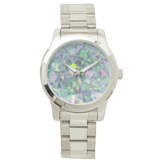 Opalescent Geode Crystal - Blue/Green, Watch