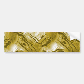 Opalescent Golden Yellow Mother-of-Pearl Effect Bumper Sticker