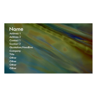 Opalescent green-blue diagonal Double-Sided standard business cards (Pack of 100)