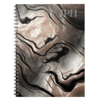Opalescent Mother-of-Pearl Effect Customizable Spiral Note Books