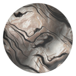 Opalescent Mother-of-Pearl Effect Melamine Plate