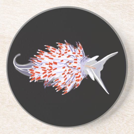 Opalescent Nudibranch Coaster