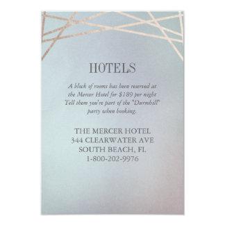 Opaline Wedding Invitation Hotel Extra Info Card