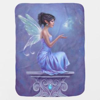 Opalite Blue & Purple Fairy with Butterfly Blanket
