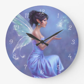 Opalite Fairy Wall Clock