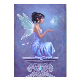 Opalite Fairy with Butterfly Wedding Invitation
