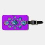 Ópalo azul en los regalos púrpuras por Sharles Etiquetas De Equipaje