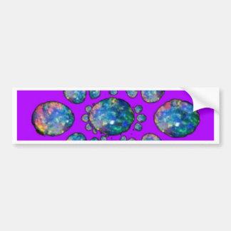 Ópalo azul en los regalos púrpuras por Sharles Pegatina Para Auto
