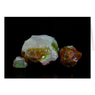 Opals Greeting Card