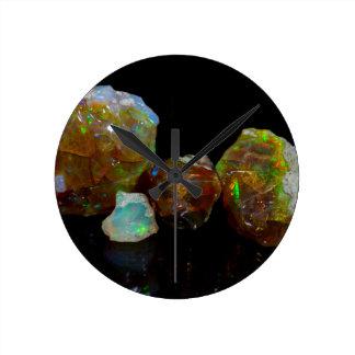 Opals Round Clock