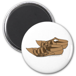 Opanke Balkan Folk Dancing  Shoes 2 Inch Round Magnet