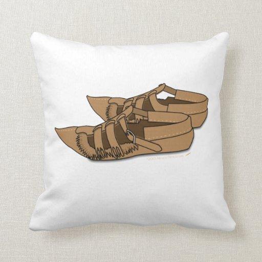Opanke Folk Dancing Shoes Custom Throw Pillow