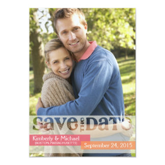 Opaque Overlay Photo Save the Date Card