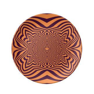 Opart anaranjado platos de cerámica