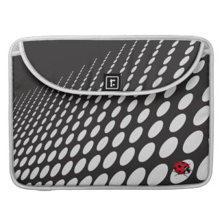 OpArt Black and White with Ladybug Sleeves For MacBooks