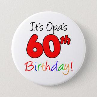 Opa's 60th Birthday Party German Grandpa Button
