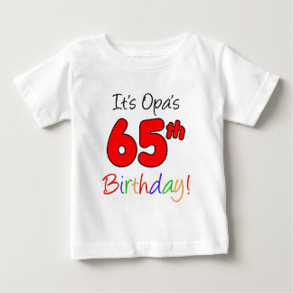 Opa's 65th Birthday Tee Shirt