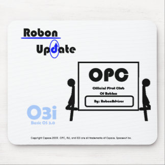 OPC, 03i, and RobonUpdate Logos Mouse Pad