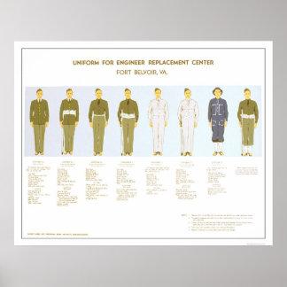 Opción 1942 PWA del uniforme militar Póster