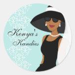 Opción 2 de Kandies de Kenia Pegatina Redonda