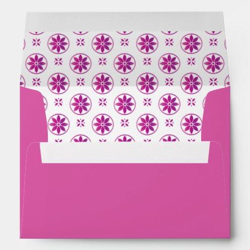 opción 5 Flowe formal púrpura magenta del sobre 5x